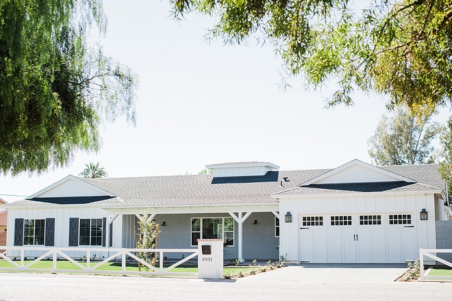 Modern Farmhouse Rustic modern farmhouse The neighborhood is comprised of modest 1950's range homes so their concept centered on recreating a modern version of the post war ranch home #ModernFarmhouse #Ranchfarmhouse #Rusticmodernfarmhouse #Rusticfarmhouse