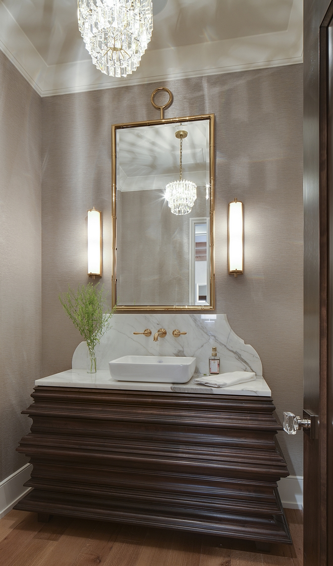 Valnut Bathroom Vanity Custom Valnut Bathroom Vanity with white marble top Valnut Bathroom Vanity design Valnut Bathroom Vanity inspiration #ValnutBathroomVanity #BathroomVanity #Walnutvanity