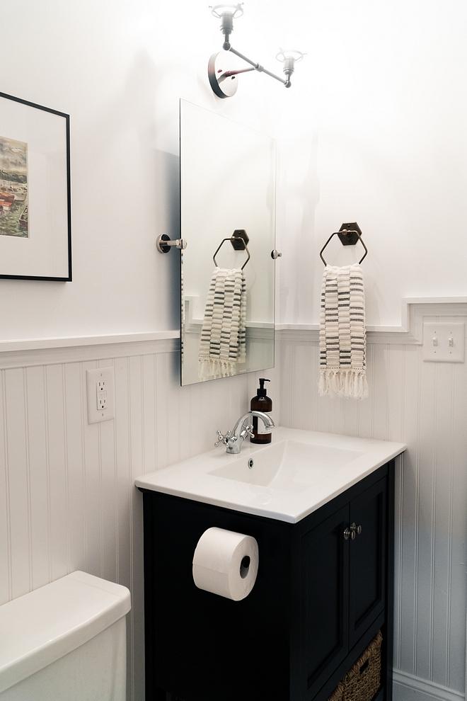 Valspar The Perfect White semi-gloss wainscoting and eggshell walls #ValsparThePerfectWhite