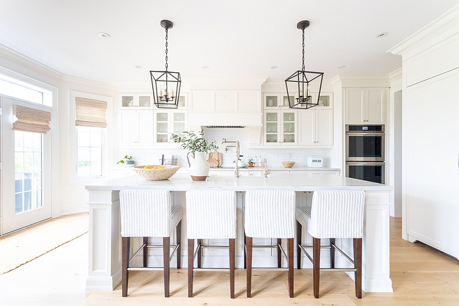 Kitchen Renovation We eliminated the breakfast area and designed this custom kitchen opting for a large 9 x 4.5 foot island instead of a breakfast table Kitchen Renovation #KitchenRenovation