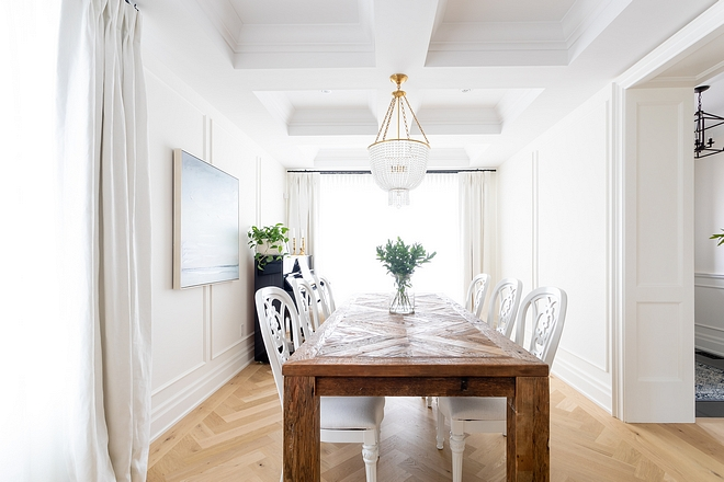 Picture Frame Wainscoting We added picture frame wainscoting to the dining room Classic Picture Frame Wainscoting Picture Frame Wainscoting Ideas Picture Frame Wainscoting Design #PictureFrameWainscoting