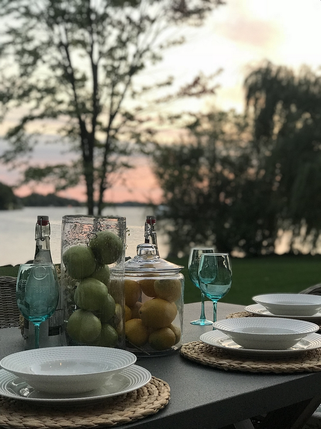 Outdoor tablescape ideas lakehouse