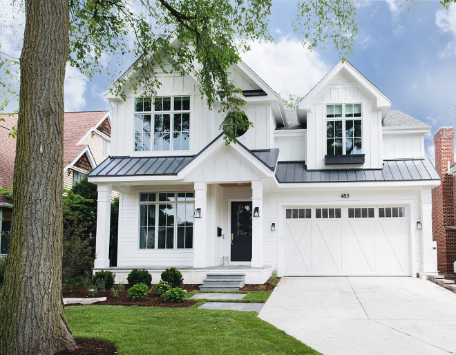 Modern farmhouse Roof combination The roof is a combination of charcoal metal roof and grey shingles Modern farmhouse Roof combination Metal Roof Shingle Roff Modern farmhouse Roof combination #ModernfarmhouseRoof #ModernfarmhouseRoofcombination #ModernfarmhousemetalRoof #ModernfarmhouseshingleRoof #Modernfarmhouse #Roof