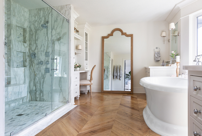 Master Bathroom Herringbone wood hardwood flooring Master Bathroom Herringbone wood hardwood flooring ideas #MasterBathroom #bathroom #bathroomHerringboneflooring #Bathroomwoodhardwoodflooring #hardwoodflooring #herringbonehardwoodflooring