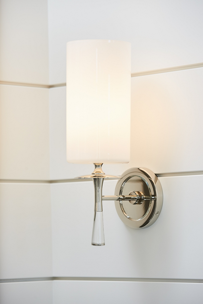 Visual Comfort Wall Sconce against shiplap wall Visual Comfort Wall Sconce #VisualComfort #WallSconce #Sconce