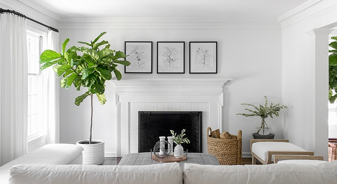 Walls and Trim Paint Color Benjamin Moore Simply White
