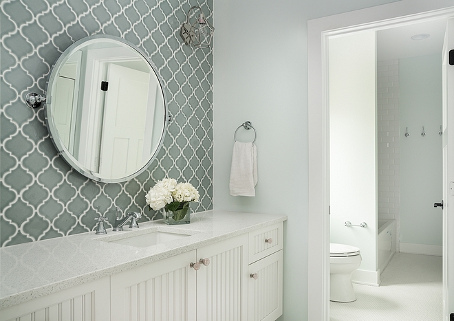 Jack and Jill Bathroom Paint Color it can be for boys and girls Sherwin Williams Glimmer