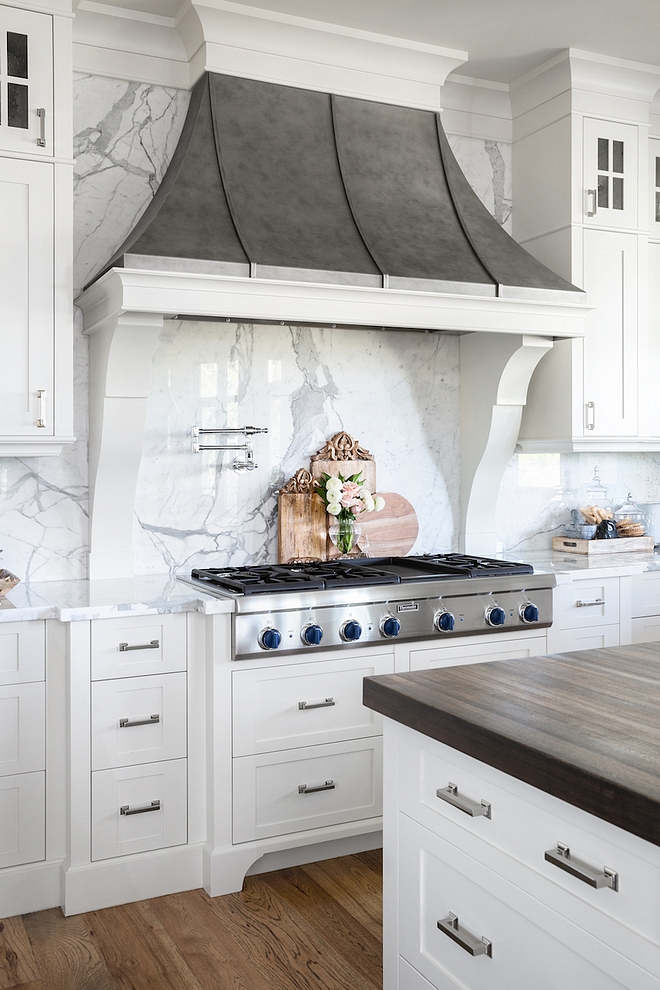 French Hood Kitchen French Hood Kitchen hood fan is a custom stainless steel hood with a patina finish applied French Hood Kitchen French Hood #FrenchHood #Kitchenhood #FrenchkitchenHood