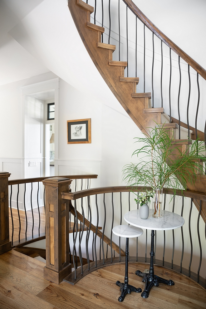 Spiral staircase This grand foyer and spiral staircase is well-loved on social media Spiral staircase Spiral staircase #Spiralstaircase #staircase