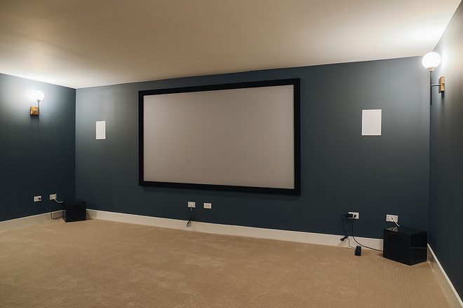 Sherwin Williams Outerspace SW 6251 Theater Room paint color ideas Sherwin Williams Outerspace SW 6251 Sherwin Williams Outerspace SW 6251 #SherwinWilliamsOuterspace #SW6251 #TheaterRoom