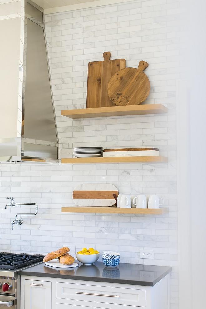 "Backsplash Tile 2"" x 9"" Asian Statuary marble tile White Marble Backsplash Tile sources White Marble Backsplash Tile #WhiteMarble #Backsplash #Tile"