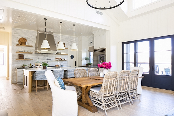 Casual Dining room We purposefully designed this home without a formal dining room #diningroom #casualdiningroom