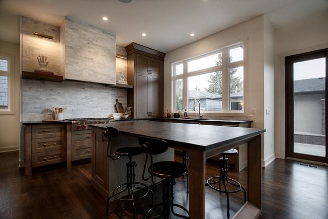 White Oak kitchen with Leathered granite countertop Kitchen Leathered granite countertop Leathered granite countertop #Leatheredgranite #countertop #Whiteoakkitchen