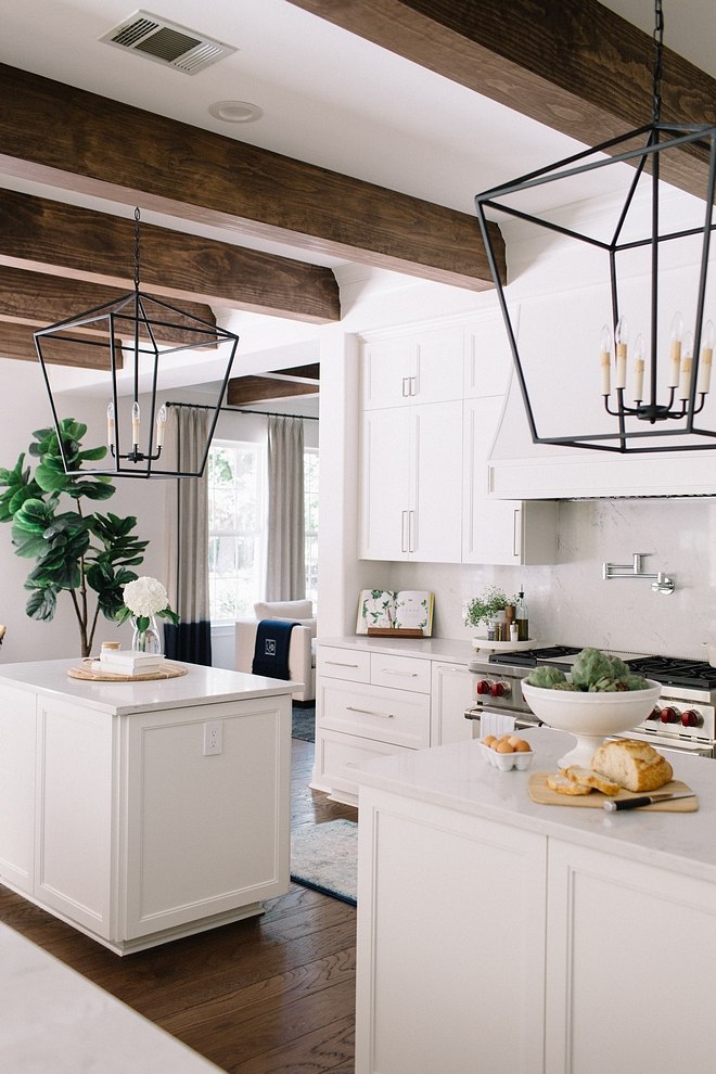 "White kitchen I mean, we can see many types of kitchens come and go, but white kitchens are and will always be a classic choice Cabinets are painted in ""Benjamin Moore OC-17 White Dove"" #whitekitchen"