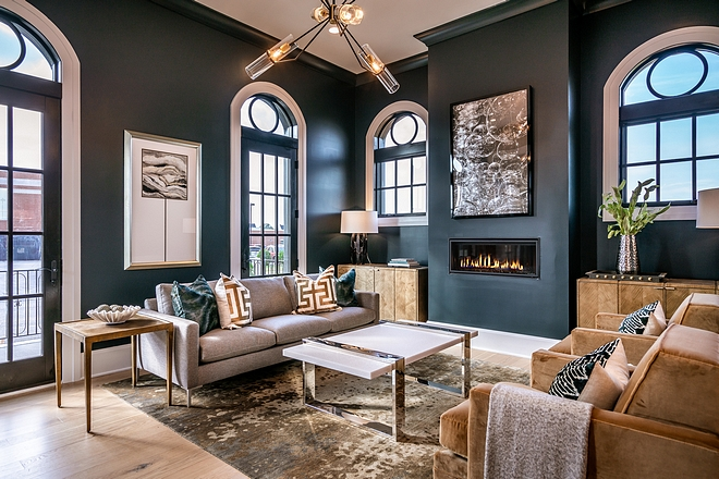 Paint color is PPG1012-7 Black Forest, eggshell finish PPG1012-7 Black Forest paint color #paintcolor #PPGBlackForest