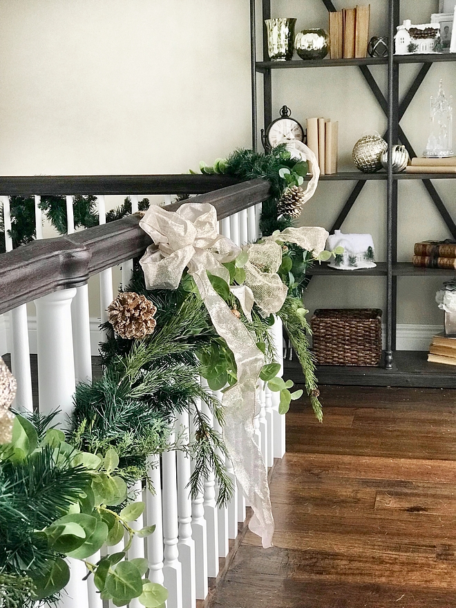 Garland I like to layer garland with different tones and species of greenery, like cedar, pine and of course, eucalyptus #garland