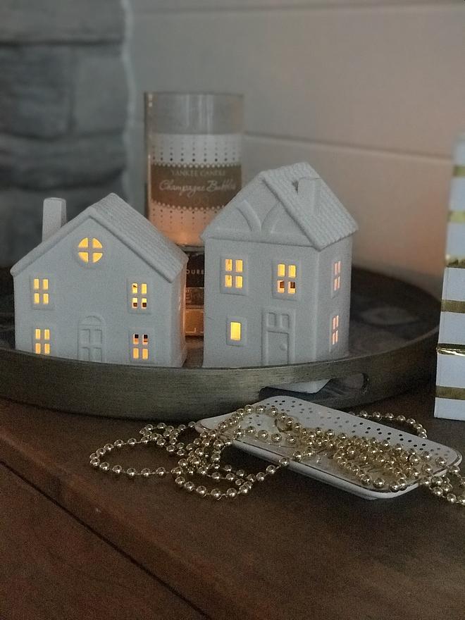 Lit Ceramic Christmas House