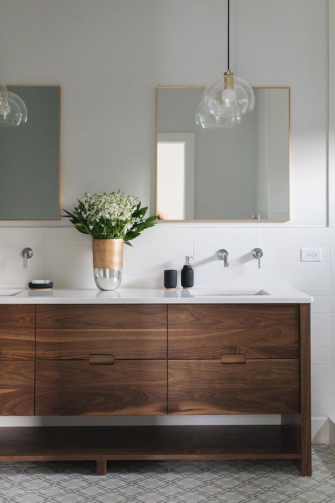 Mid century Bathroom Vanity Bathroom vanity is Walnut Mid century Bathroom Vanity Ideas Mid century Bathroom Vanity Mid century Bathroom Vanity Mid century Bathroom Vanity #Midcenturyvanity #midcenturyBathroom #midcenturyVanity
