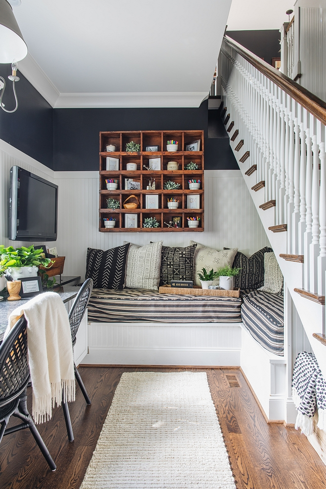 """Under stair ideas There are two twin beds that form an """"L"""" under the stairs that are the perfect little escape Great Under stair ideas #Understairideas"""