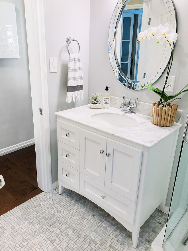 Small bathroom renovation ideas This small bathroom was the first major renovation Small bathroom renovation Small bathroom reno ideas Small bathroom renovation #Smallbathroomrenovation #Smallbathroom #bathroomrenovation #majorrenovation