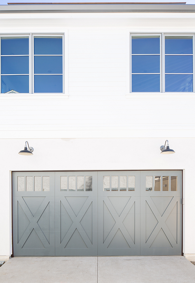 Grey garage door paint color Garage Door, window trim Farrow and Ball Down Pipe Grey garage door paint color Grey garage door paint color Grey garage door paint color Grey garage door paint color #Greygaragedoor #garagepaintcolor
