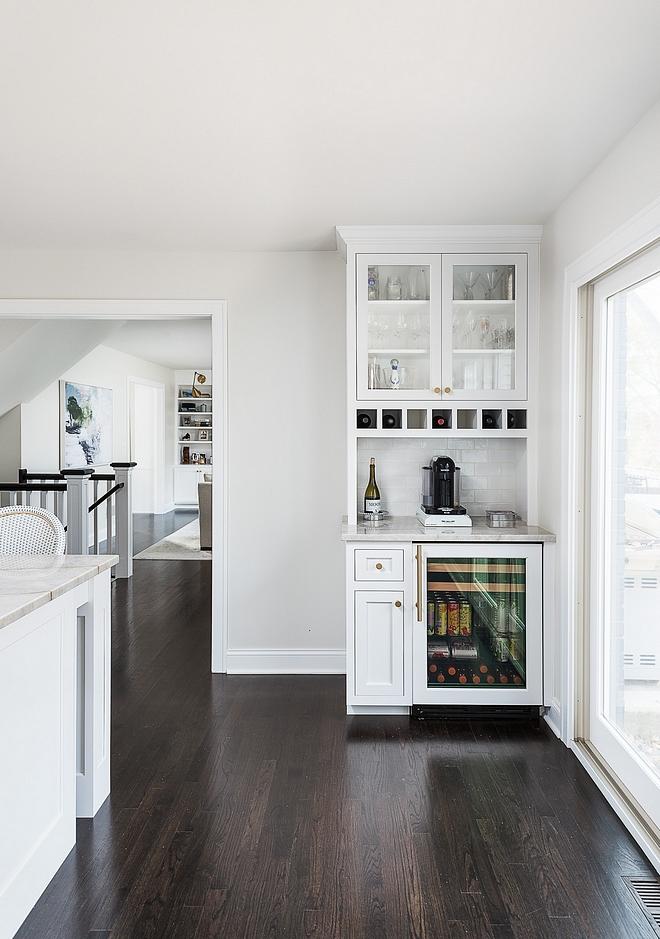 Kitchen bar with built-in beverage fridge Small bar with built-in beverage center in kitchen bar with built-in beverage fridge ideas #bar #kitchenbar #beveragecenter