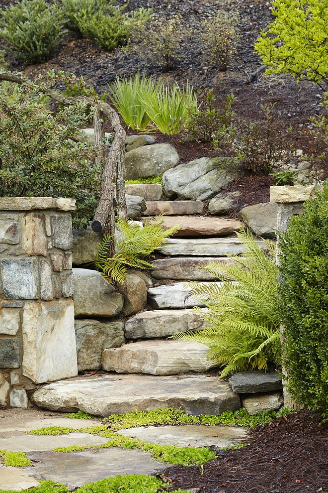 Natural stone steps Steps are made of natural Weathered Granite Landscaping Natural stone steps Steps are made of natural Weathered Granite Landscaping Gardens Garden stairway Garden steps #Naturalstonesteps #stonesteps #Landscaping #garden #gardens #stairway