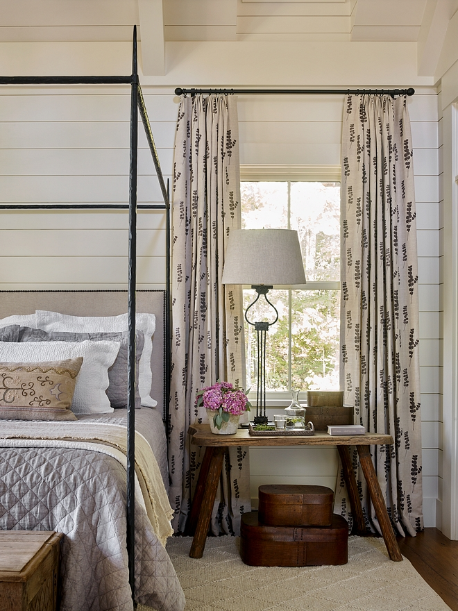 Bedroom Draperies Bedroom with patterned drapery Bedroom Drapery ideas Bedroom Draperies #BedroomDraperies #Bedroom #Draperies #Drapery #patterneddrappery