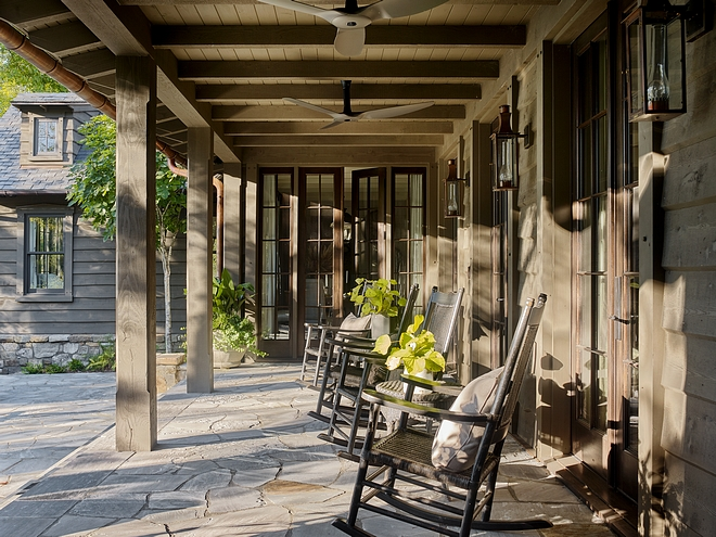 Rustic home Porch Rustic home porch with Bluestone flooring #rustichome #rusticporch #Bluestone