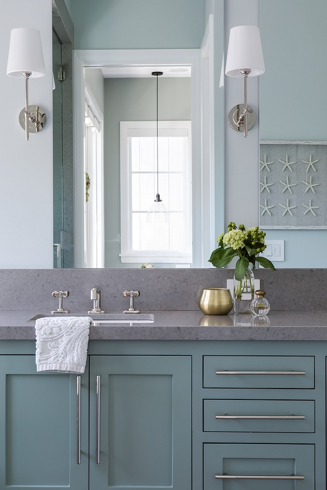 "Bathroom Countertop Bathroom Countertop Avalon Quartz with 9"" backsplash Countertop Edge Miter 1 1/2 #BathroomCountertop #Bathroom #Countertop"