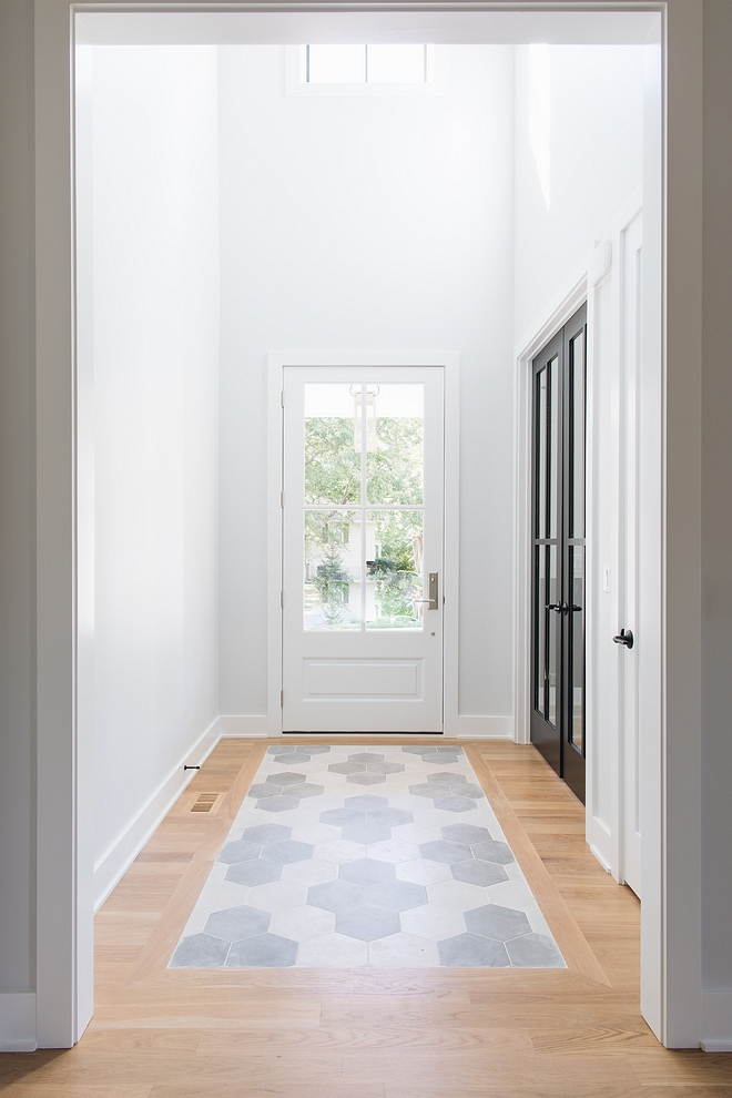 Tile Runner Foyer Tile Ideas Foyer with high ceilings and hex tile runner Tile ideas Tile Runner Foyer Tile Ideas Foyer with high ceilings and hex tile runner #TileRunner #FoyerTile #Foyer #tile #hextile #tiling