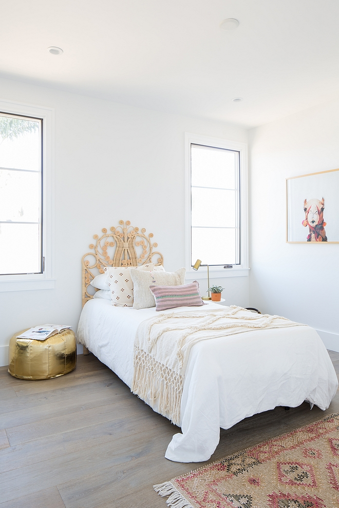 White bedroom paint color Benjamin Moore White