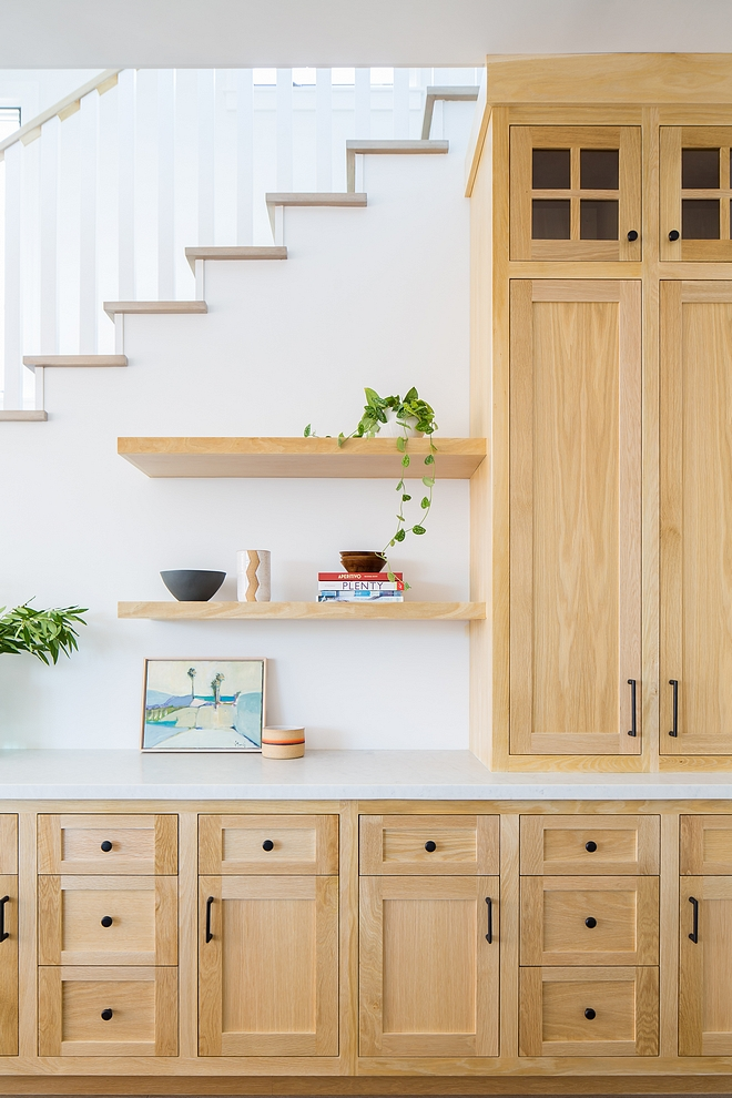 Bleached White Oak Kitchen Cabinet Bleached White Oak Kitchen Cabinet with honed Carrara marble countertop and floating shelves Bleached White Oak Kitchen Cabinet Bleached White Oak Kitchen Cabinet Bleached White Oak Kitchen Cabinet #BleachedWhiteOakKitchenCabinet #BleachedWhiteOak #KitchenCabinet #BleachedWhiteOakCabinet