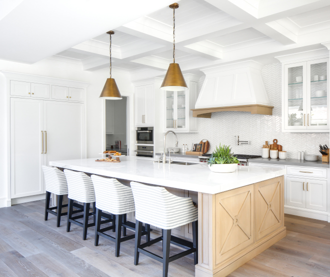 Kitchen Island Inset Cabinet The kitchen island have features shaker-style cabinets with Double X detail on the sides. Wood is Rift White Oak with a custom stain #kitchenisland #kitchen #shakerstylecabinets #Xisland #RiftWhiteOak