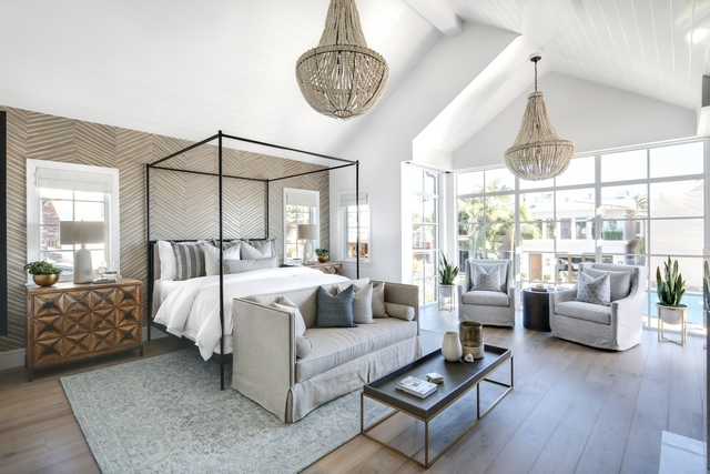 Master Bedroom with two chandeliers Master Bedroom with two Empire Beaded chandeliers Clay Bead Empire Chandelier #MasterBedroom #twochandeliers #Bedroomchandelier #EmpireBeadedchandeliers