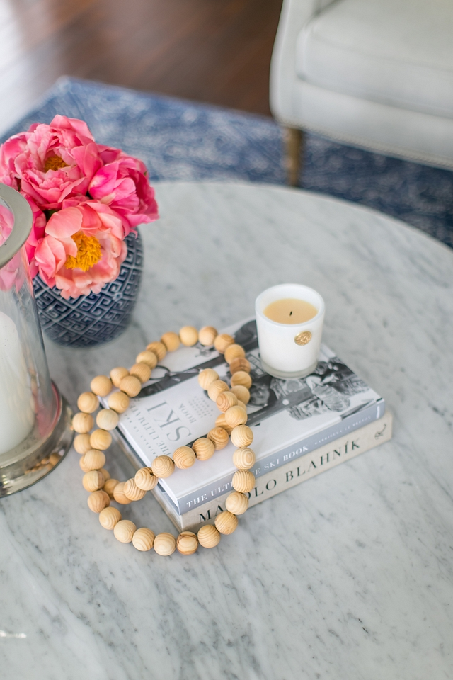 Coffee Table Decor Coastal Coffee Table Decor Feminine Coffee Table Decor Ideas Book Candle Beads Vase Hurricane Coffee Table Decor #CoffeeTableDecor #homedecor