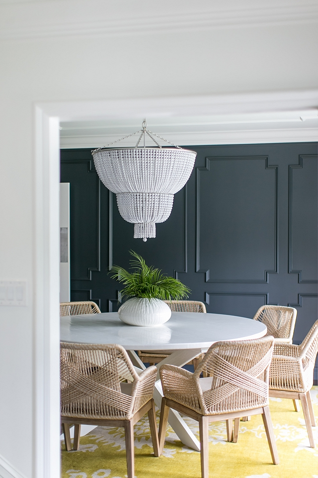 SHERWIN WILLIAMS CYBERSPACE SW 7076 waiscotting with Sherwin Williams Pure White Trim and Ceiling SHERWIN WILLIAMS CYBERSPACE SW 7076 #SHERWINWILLIAMSCYBERSPACE #SW7076