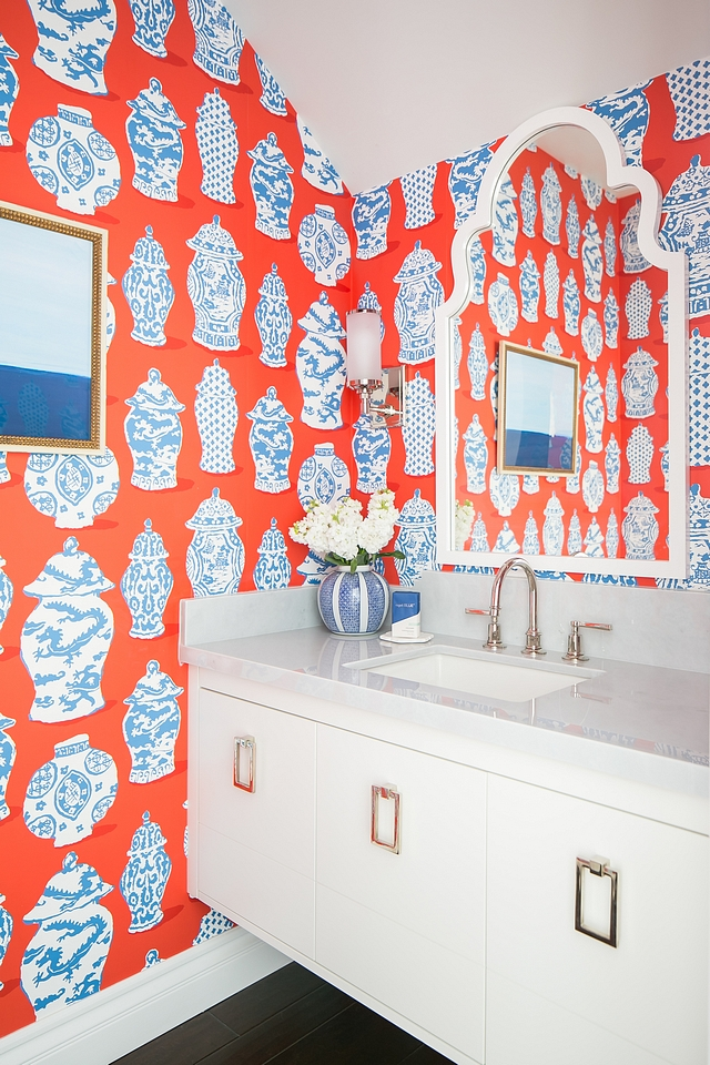Wallpaper STROHEIM CANTON PERSIMMON BY DANA GIBSON IN BLUE #Wallpaper #STROHEIMCANTON #PERSIMMON #DANAGIBSON