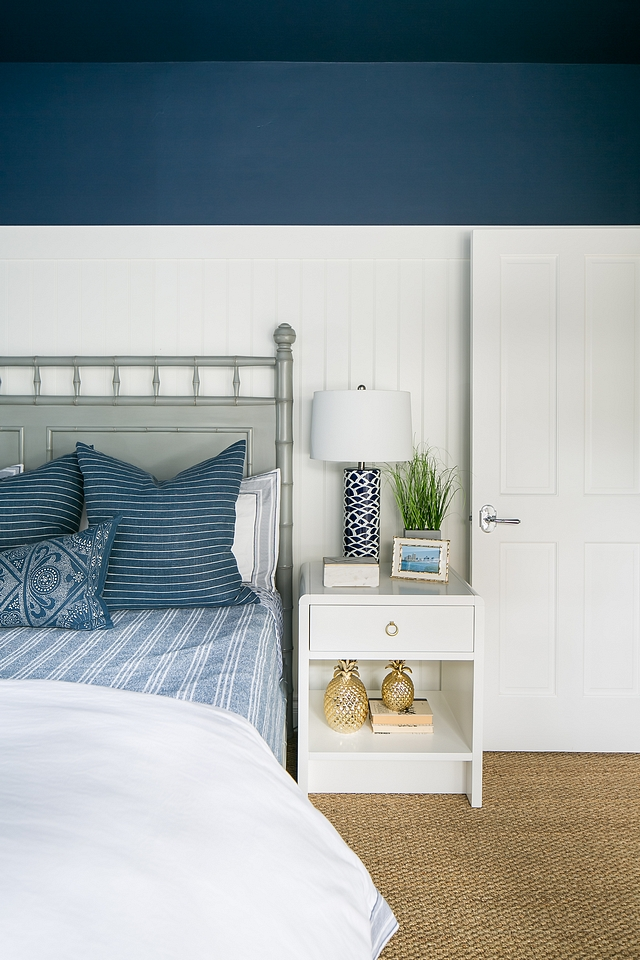 Sherwin Williams SW 6244 Naval Paint color above wainscottingh is Sherwin Williams SW 6244 Naval and wainscotting is SW Pure White Sherwin Williams SW 6244 Naval Sherwin Williams SW 6244 Naval Paint Color Sherwin Williams SW 6244 Naval #SherwinWilliamsSW6244Naval #paintcolor
