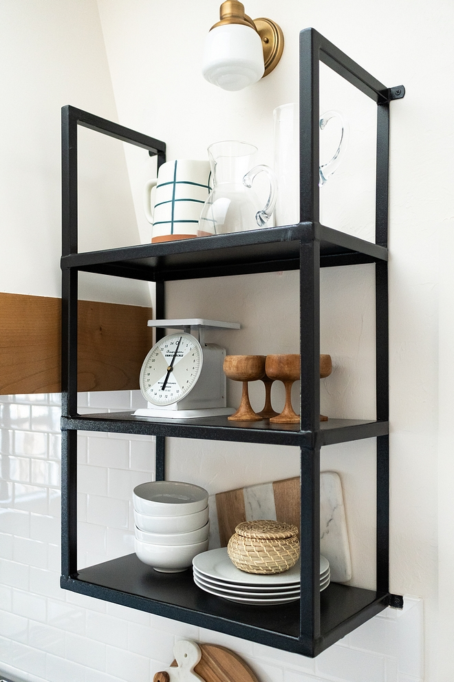 Iron Shelves Kitchen Iron shelves were custom-designed and welded by local welder Iron Shelves Kitchen Iron shelves Design Ideas Iron Shelves Kitchen Iron shelves #IronShelves #KitchenIronshelves