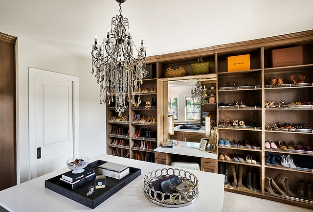 Closet A his and hers closet gives each of them their own space #closet