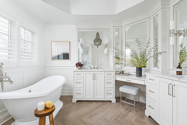 Master Bathroom Renovation See before and After pictures on the blog Master Bathroom Renovation Master Bathroom Renovation Master Bathroom Renovation Master Bathroom Renovation #MasterBathroom #BathroomRenovation
