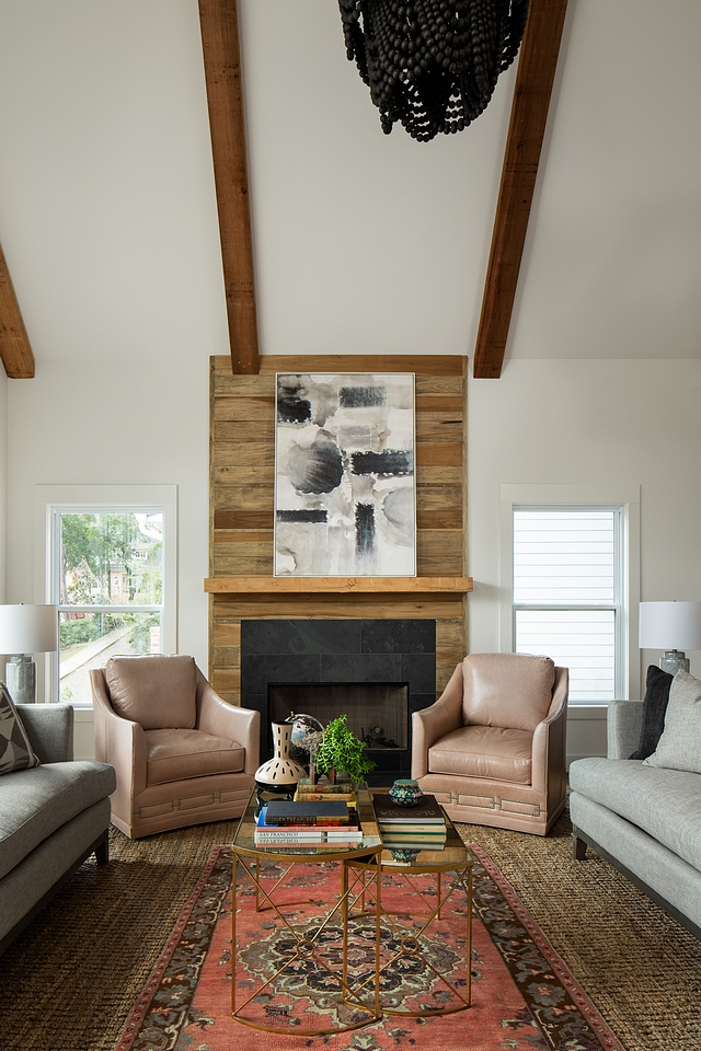 "Reclaimed wood shiplap Fireplace Fireplace features shiplap surround from floor-to-ceiling The pattern is 8""shiplap with 6"" shiplap with 2"" shiplap Reclaimed wood shiplap Fireplace Reclaimed wood shiplap Fireplace #Reclaimedwood #Reclaimedwoodshiplap #shiplap #shiplapFireplace"