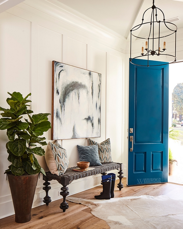 Sherwin Williams SW 6230 Rainstorm Blue front door paint color Sherwin Williams SW 6230 Rainstorm Sherwin Williams SW 6230 Rainstorm Sherwin Williams SW 6230 Rainstorm #SherwinWilliamsSW6230Rainstorm #bluedoor #frontdoor #bluefrontdoor