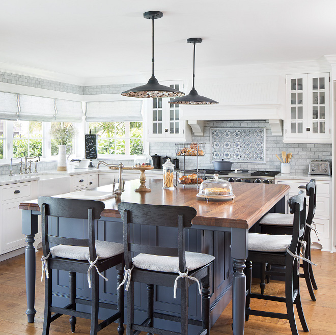 Benjamin Moore Abyss Blue kitchen island Benjamin Moore Abyss paint color Benjamin Moore Abyss Benjamin Moore Abyss Benjamin Moore Abyss #BenjaminMooreAbyss