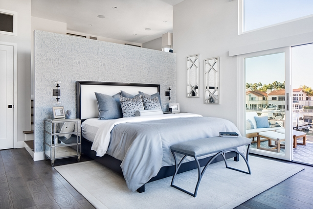 Master bedroom The master bedroom opens to a private waterfront balcony #masterbedroom