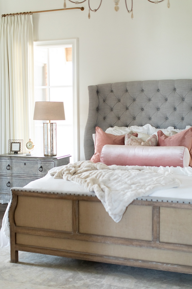 French bedroom with De-Constructed bed French bedroom with De-Constructed bed and serpentine style nightstands French bedroom with De-Constructed bed French bedroom with De-Constructed bed #Frenchbedroom #DeConstructedbed