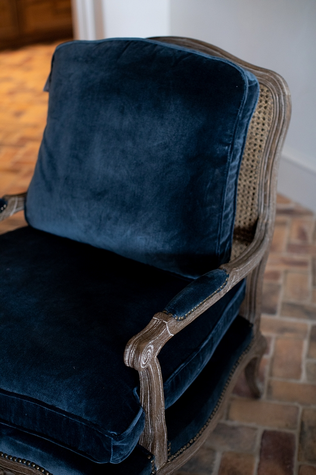 Blue velvet chair with cane back chair Blue velvet chair with cane back accent chair Blue velvet chair with cane back #Bluevelvetchair #canebackchair