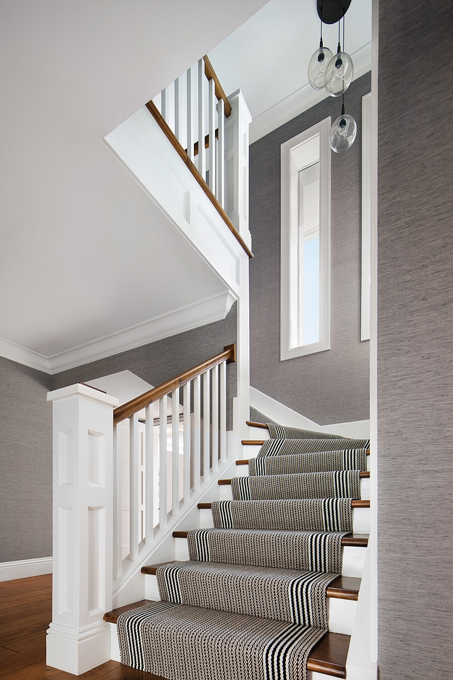 Staircase with runner and wallpaper on walls Staircase with runner and wallpaper on walls Staircase with runner and wallpaper on walls Staircase with runner and wallpaper on walls #Staircase #runner #staircaserunner #wallpaper on walls