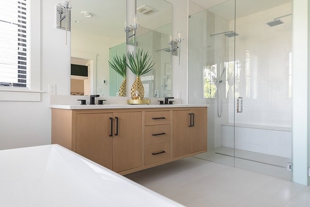 Curbless shower with Double shower heads Curbless shower Curbless shower design Curbless shower #Curblessshower